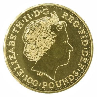Lot 64 - Queen Elizabeth II, 2013 Gold 1oz Britannia, 100 Pounds.
