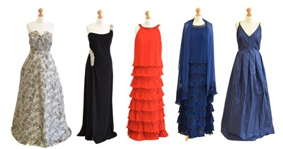 Lot A selection of designer ballgowns