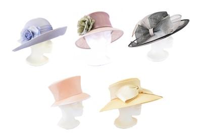 Lot 103 - Five designer hats