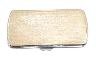 Lot 110 - A George V silver cigarette case