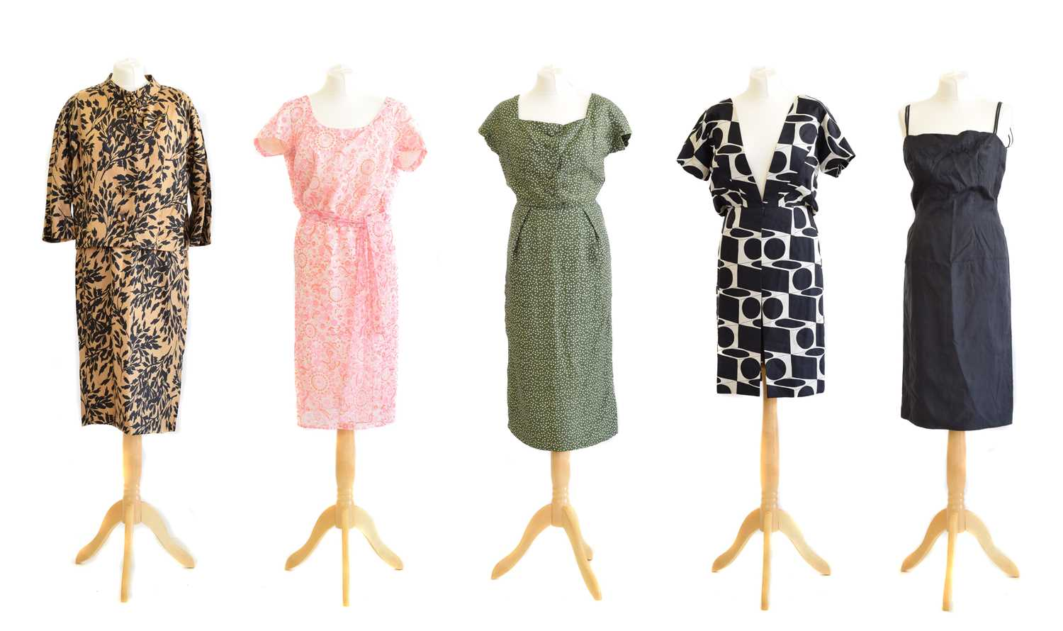 Lot 18 - Five silk dresses