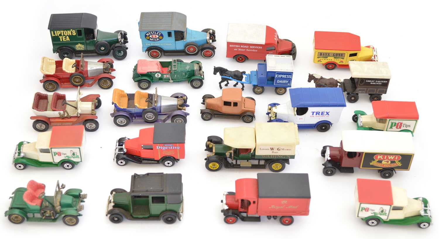 Lot 21 unboxed diecast toy cars