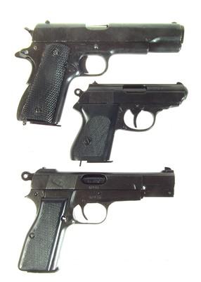 Lot Three Denix replica pistols LICENCE REQUIRED