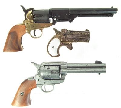 Lot Three Denix Western replica pistols