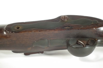 Lot Massive flintlock wall gun by Lacy and Co.
