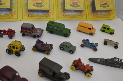 Lot A collection of 29 miniature diecast vehicle...