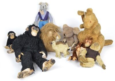 Lot 133 - Nine plush stuffed animal teddy bears