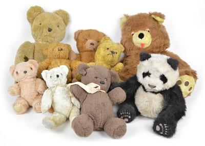 Lot 131 - Nine teddy bears