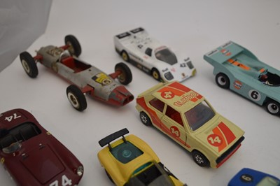 Lot 15 diecast racing cars to include a Crescent...