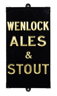Lot 156 - Wenlock Ales & Stout Sign