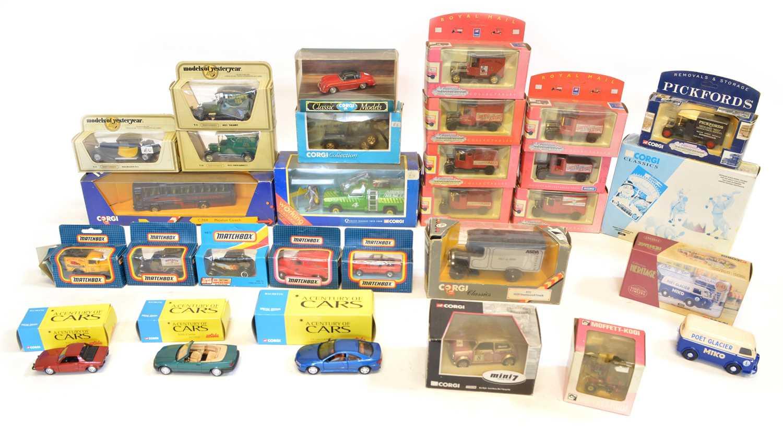 Lot 28 Boxed Corgi and Matchbox model vehicles to...