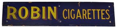 Lot 157 - Robin Cigarettes enamel sign