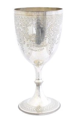 Lot 99 - A Victorian silver cup