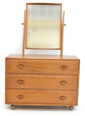 Lot Ercol Dressing Chest with Swing Mirror