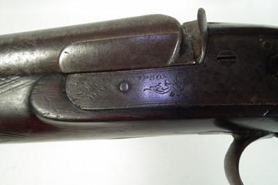 Lot Percussion double barrel shotgun by H. Thompson