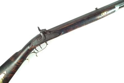 Lot 50 - Percussion Plains rifle by J Mier