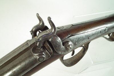 Lot Percussion double 18 bore shotgun by Mortimer