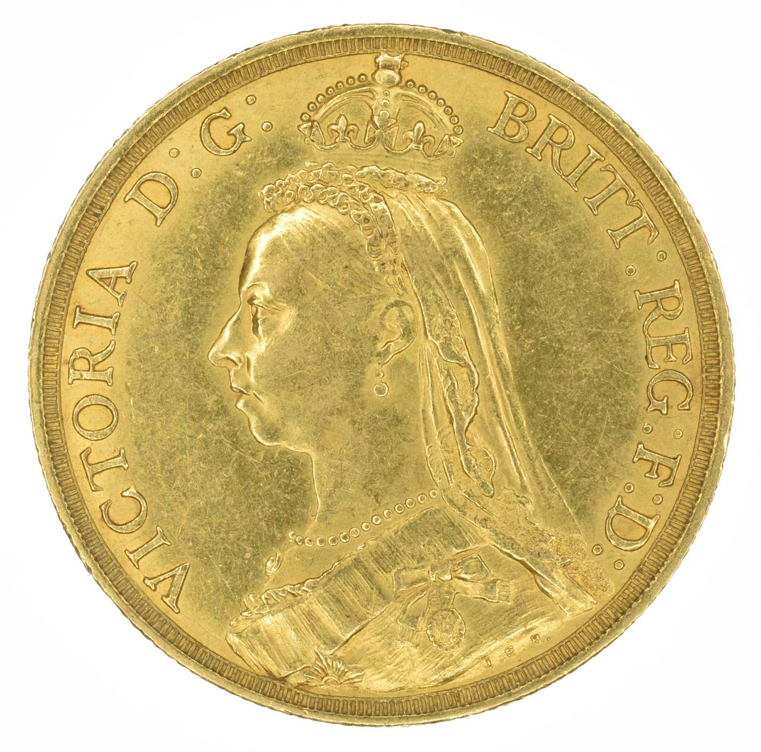 Lot 17 - Queen Victoria, Two Pounds, 1887.