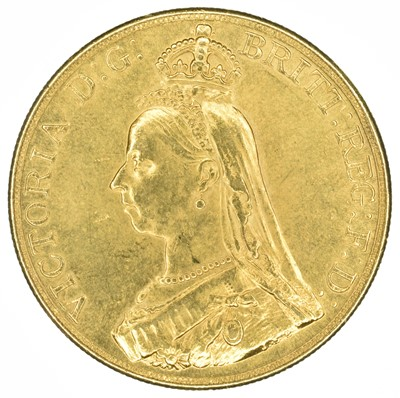 Lot 18 - Queen Victoria, Five Pounds, 1887, jeweller's copy.