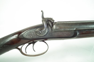 Lot Percussion double 15 bore shotgun by Armstrong