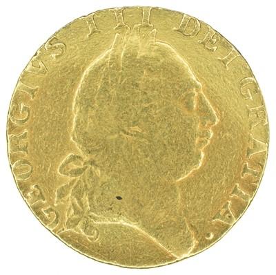 Lot 19 - King George III, Guinea, 1787, ex mount.