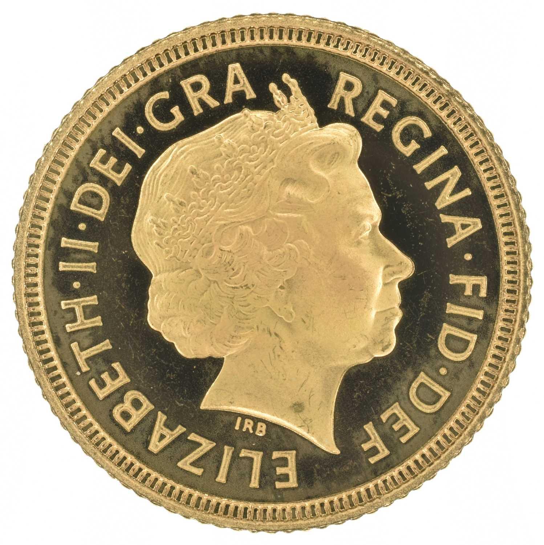 Lot 56 - Queen Elizabeth II, Half-Sovereign, 1999, impaired proof.