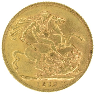 Lot 35 - King George V, Sovereign, 1913.