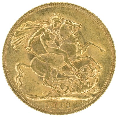 Lot 36 - King George V, Sovereign, 1913.