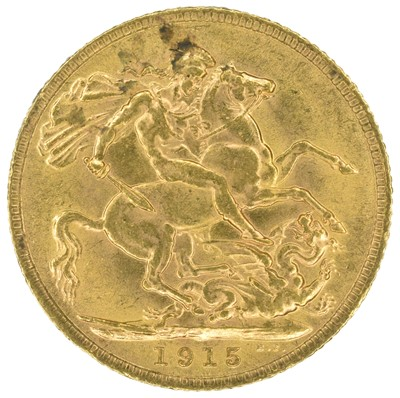 Lot 37 - King George V, Sovereign, 1915.