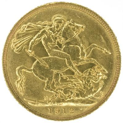 Lot 38 - King George V, Sovereign, 1912.