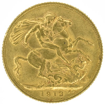 Lot 40 - King George V, Sovereign, 1913.