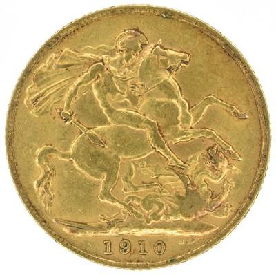 Lot 41 - King Edward VII, Sovereign, 1910.