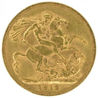Lot 42 - King George V, Sovereign, 1912.