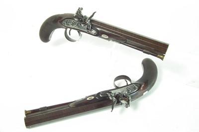 Lot 3 - Pair of flintlock Officer's pistols by Holmes