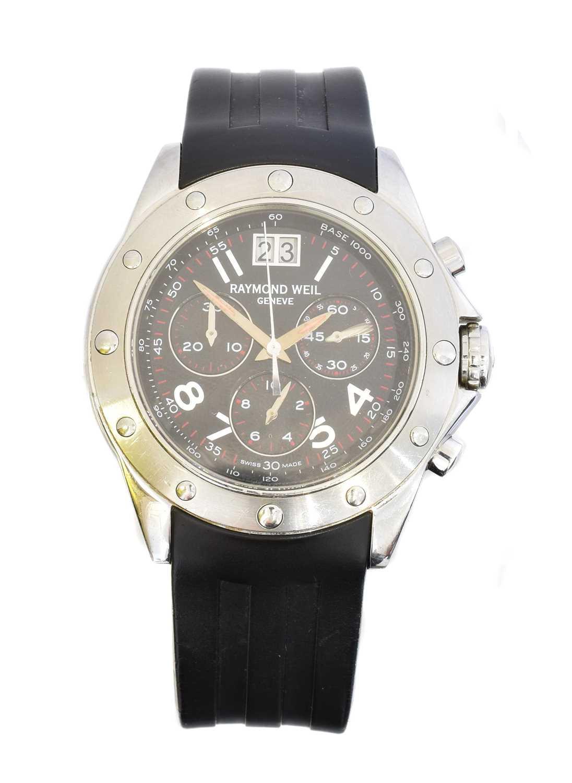 Lot A stainless steel Raymond Weil Collection Tango quartz wristwatch