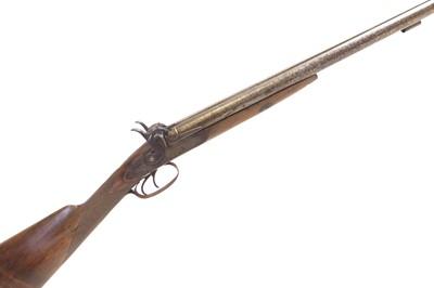 Lot 68 - Percussion 16 bore double barrel shotgun
