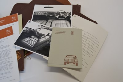 Lot 97 - Four Cheney Leather Documents with Rolls Royce Ephemera from 1975