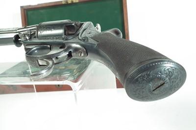 Lot 14 - Cased Tranter .54 bore double trigger revolver