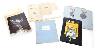 Lot 98 - A large collection of Rolls Royce ephemera