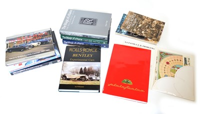 Lot 100 - A collection of 11 books and brochures on Bentley and Pininfarina