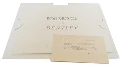 Lot 101 - Rolls-Royce Silver Cloud and Bentley Series 'S' sales brochure