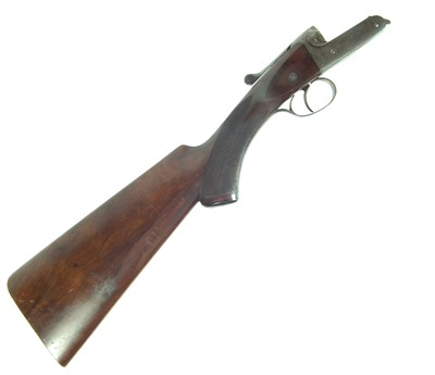 Lot 29 - Stock and action only of a Greener rook rifle