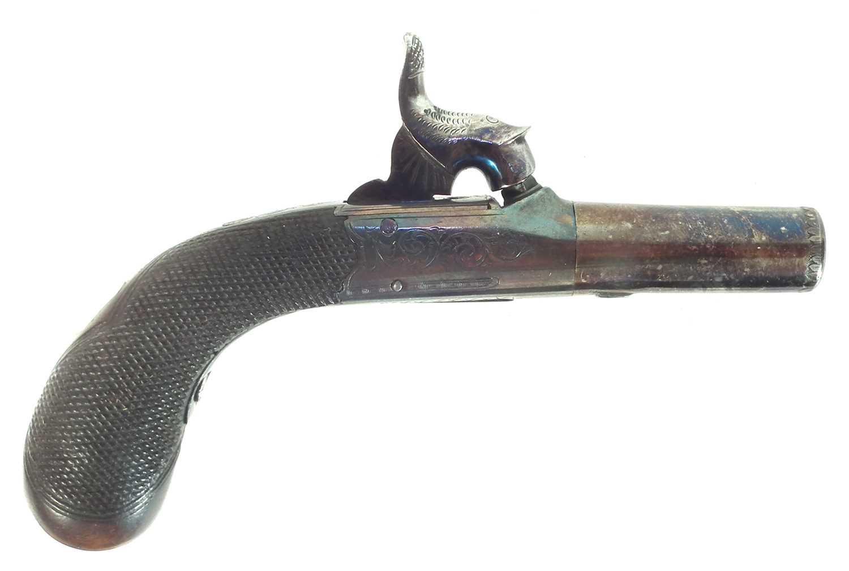 Lot 8 - Percussion muff pistol