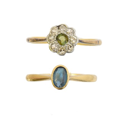 Lot 27 - Two gem-set dress rings