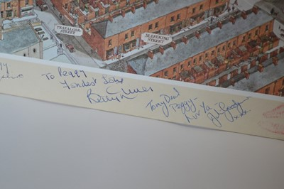 Lot Signed Coronation Street Print