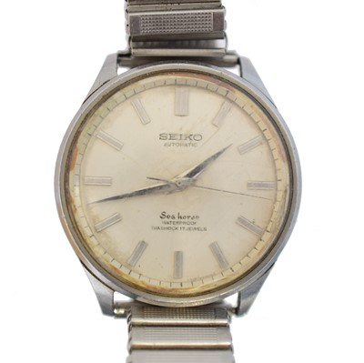 Lot 53 - A stainless steel Seiko Sea Horse watch