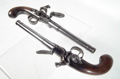 Lot 6 - Pair of Queen Anne type flintlock pistols