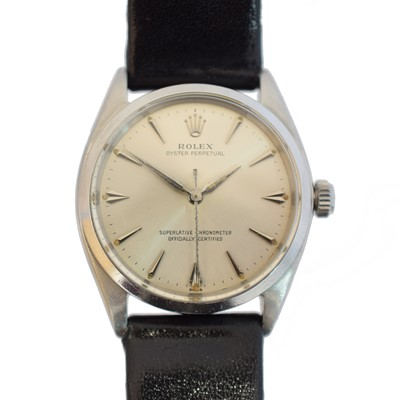 Lot A 1960s stainless steel Rolex Oyster Perpetual wristwatch