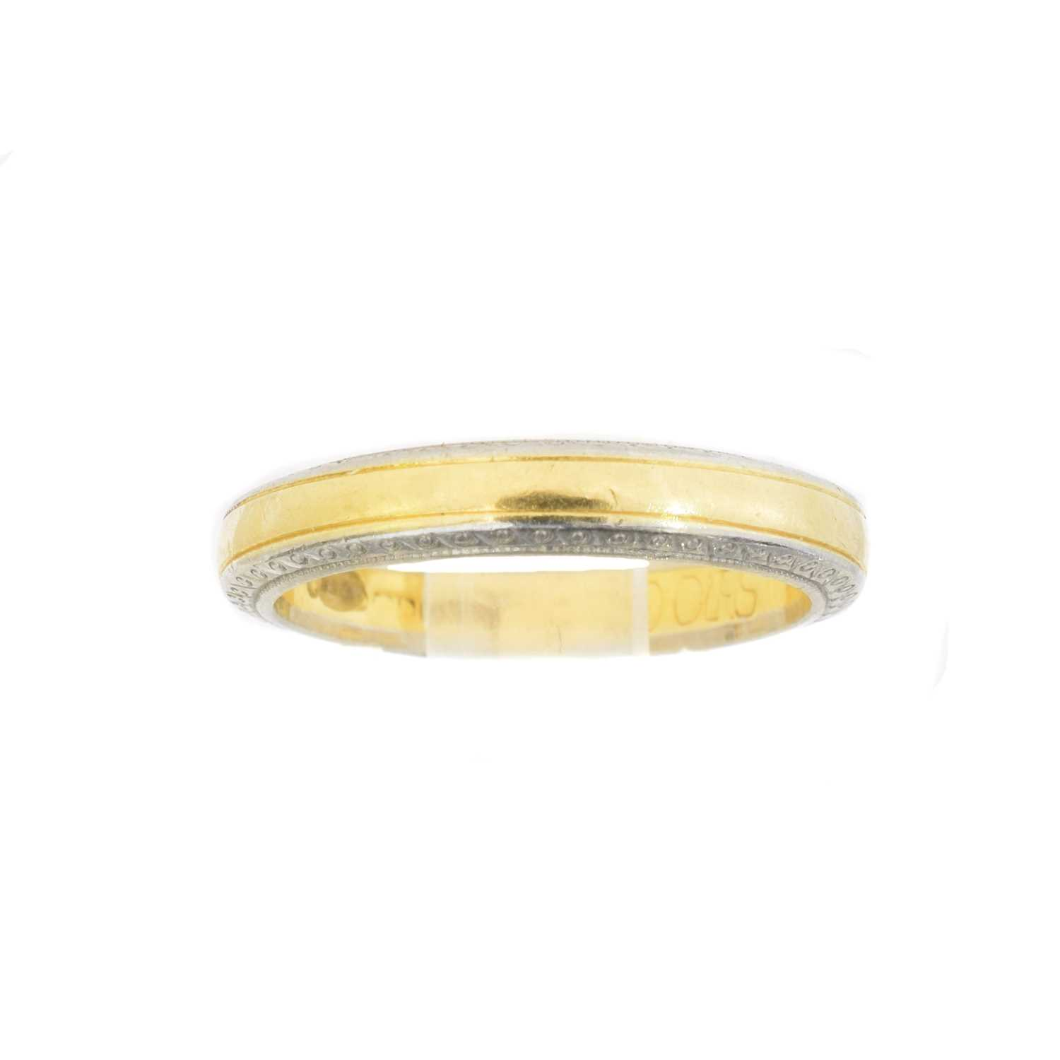 Lot An 18ct gold band ring by Boodles