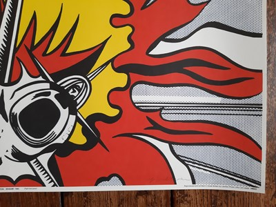 "Lot 59 - Roy Lichtenstein, ""Wham"", pair of signed posters."